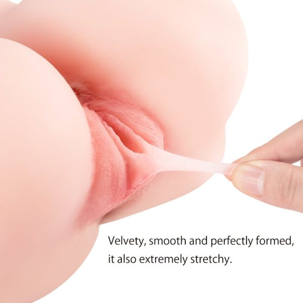 Pussy Ass Masturbator for Male, 3D Realistic Butt Vagina and Anal Stroker for Couples Men Masturbation, Silicone Virgin Anus