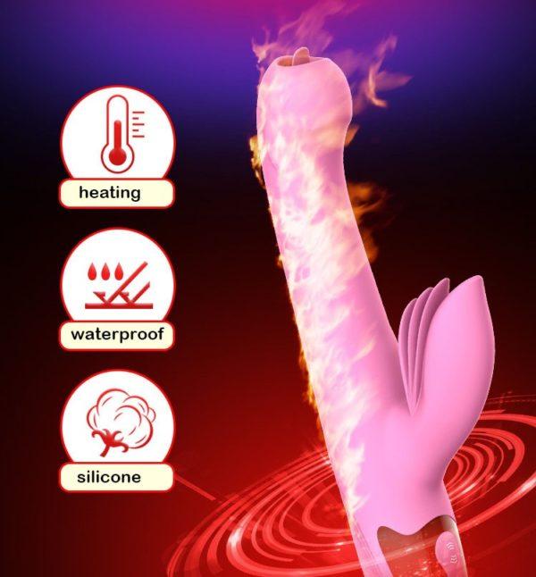 Heartley Marvels Throbbing Powerful Flickering Tongue Clit Vibrator