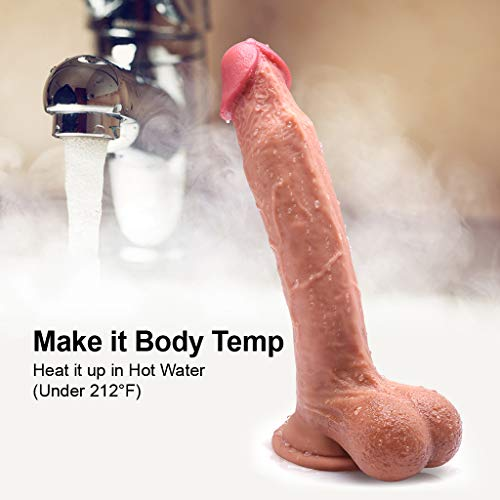 10Inch-Realistic-Dildo-Dual-Layered-Silicone-Cock-with-Full-Shaped-Balls-and-Strong-Suction-Cup-for-Life-Like-Experience-Hands-F