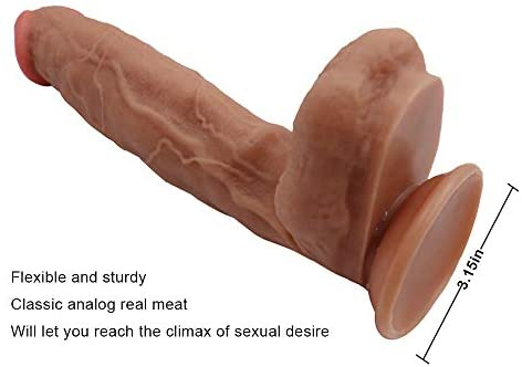 12 inch Liquid Realistic silicone Huge Dong Dildo Brown